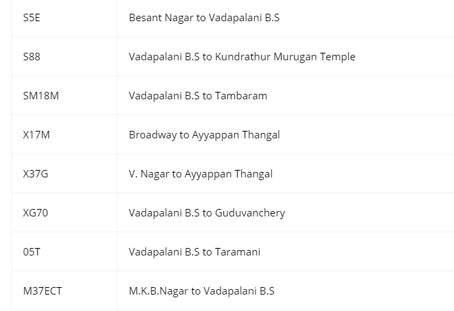 Vadapalani Murugan Temple Timings Bus